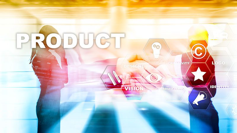 Business Product Promotion Design Concept. Double exposure background